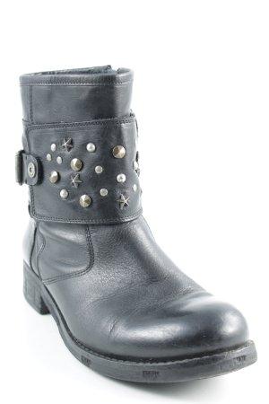 Tommy Hilfiger Reißverschluss-Stiefeletten schwarz-silberfarben