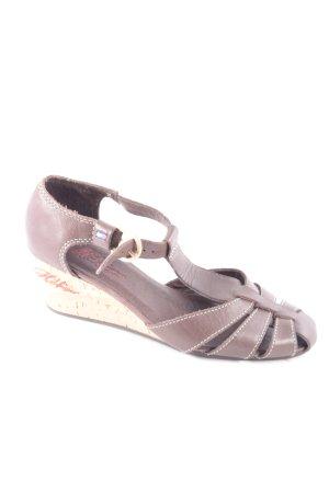 Tommy Hilfiger Riemchen-Sandaletten dunkelbraun Street-Fashion-Look