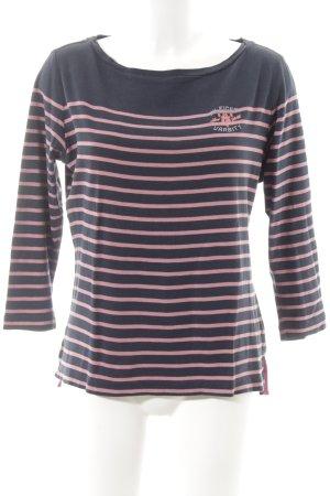 Tommy Hilfiger T-shirt rayé bleu foncé-rose rayures horizontales