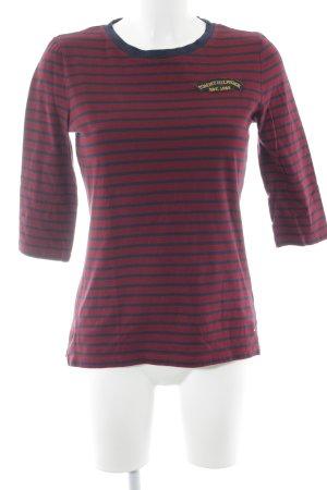 Tommy Hilfiger T-shirt rayé rouge foncé-bleu foncé rayures horizontales