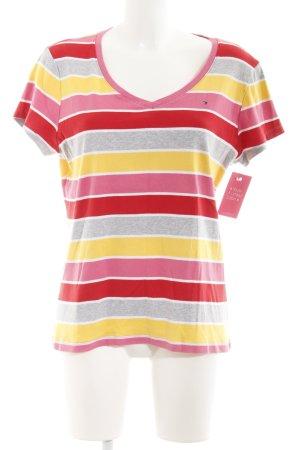 Tommy Hilfiger Gestreept shirt veelkleurig atletische stijl