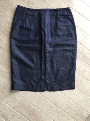 Tommy Hilfiger Pencil Skirt dark blue cotton