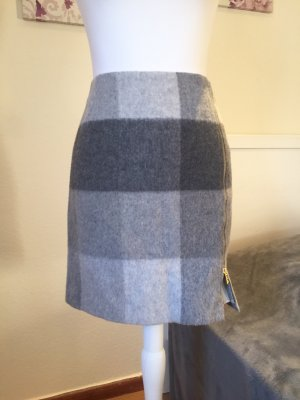 Tommy Hilfiger Wool Skirt anthracite-light grey wool