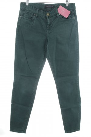 Tommy Hilfiger Drainpipe Trousers forest green embroidered logo