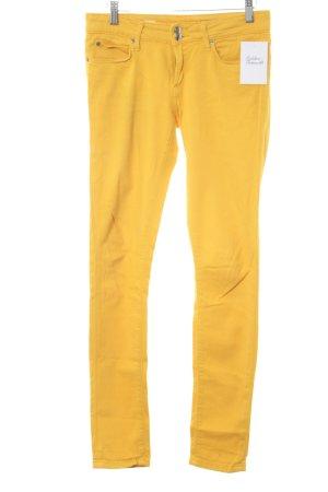 Tommy Hilfiger Jeans cigarette jaune foncé style décontracté