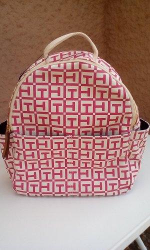 Tommy Hilfiger Sac à dos blanc cassé-rose coton