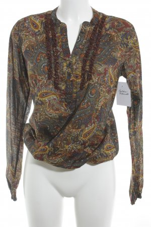 Tommy Hilfiger Ruffled Blouse ethnic pattern Boho look
