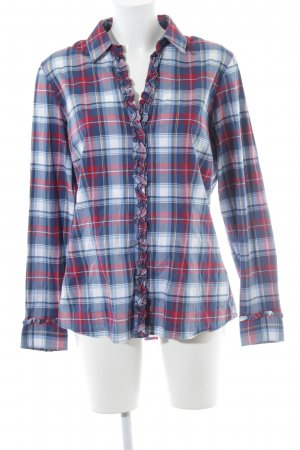Tommy Hilfiger Ruche blouse geruite print casual uitstraling