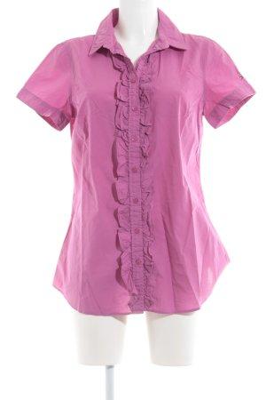 Tommy Hilfiger Rüschen-Bluse pink Business-Look