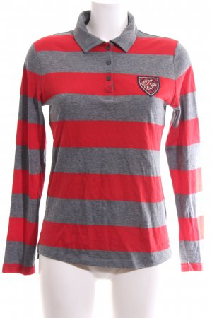 Tommy Hilfiger Rugbyshirt rood-lichtgrijs gestippeld casual uitstraling