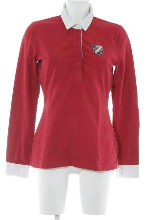 Tommy Hilfiger Camiseta de rugby rojo-blanco look casual