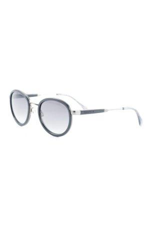 Tommy Hilfiger runde Sonnenbrille schwarz klassischer Stil
