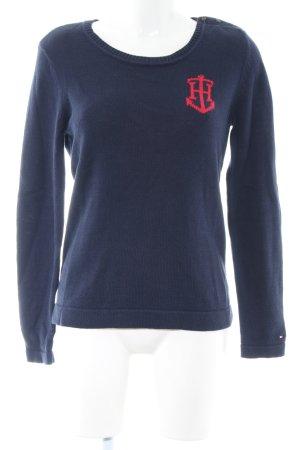 Tommy Hilfiger Jersey de cuello redondo azul-rojo look casual