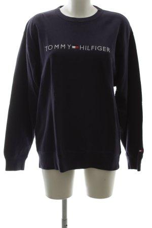 Tommy Hilfiger Jersey de cuello redondo negro letras bordadas look casual
