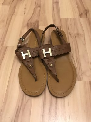Tommy Hilfiger Strapped Sandals brown-gold-colored