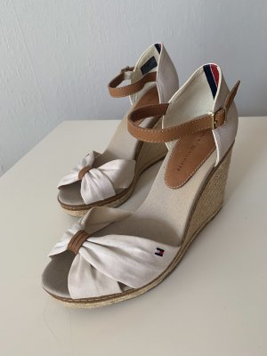 Tommy Hilfiger Wedge Sandals natural white-cognac-coloured