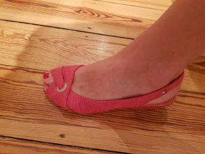 Tommy Hilfiger Wedge Sandals neon red