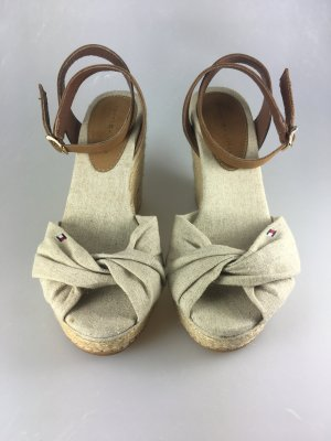 Tommy Hilfiger Wedge Sandals oatmeal-brown