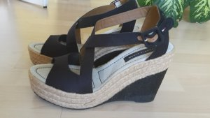 Tommy Hilfiger Wedge Sandals black-natural white