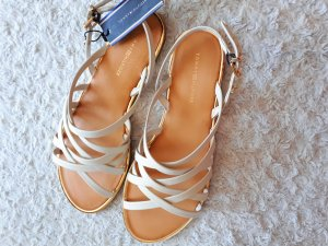 Tommy Hilfiger Outdoor Sandals cream leather