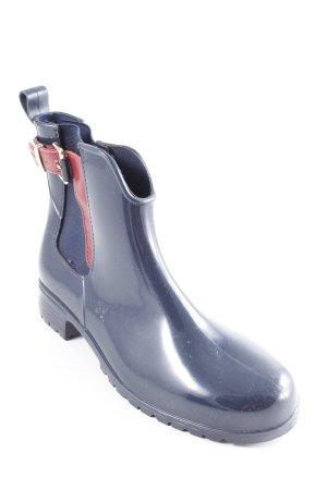 Tommy Hilfiger Botas deslizantes azul oscuro-burdeos estilo clásico