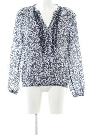 Tommy Hilfiger Schlupf-Bluse dunkelblau-weiß Blumenmuster Casual-Look