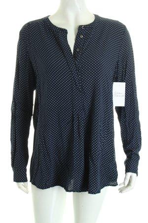 Tommy Hilfiger Schlupf-Bluse dunkelblau-weiß Punktemuster klassischer Stil