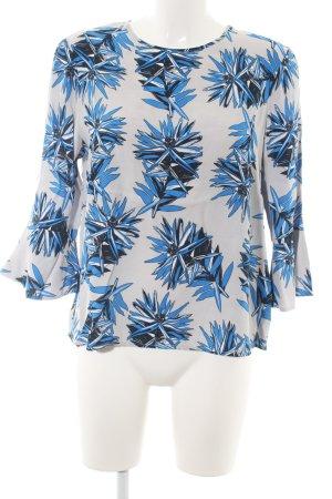 Tommy Hilfiger Schlupf-Bluse hellgrau-blau florales Muster Business-Look