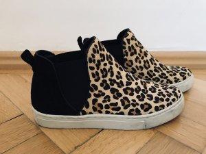 Tommy Hilfiger Schuhe 39 Ancle Boots Slipper Leo Leder Fell