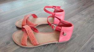 Tommy hilfiger Schuhe Sandalen pink Leder Echtleder