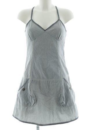 Tommy Hilfiger schulterfreies Kleid hellgrau Streifenmuster Casual-Look