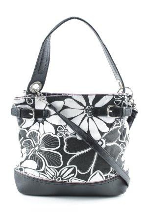 Tommy Hilfiger Shoulder Bag black-white floral pattern casual look
