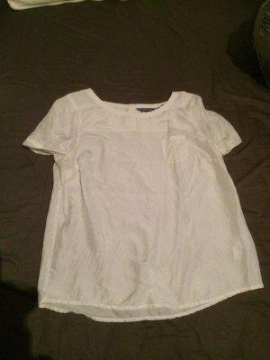 Tommy Hilfiger Seiden Bluse in weiß