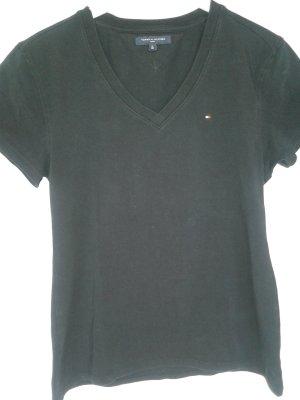 Tommy Hilfiger V-hals shirt donkerblauw Gemengd weefsel