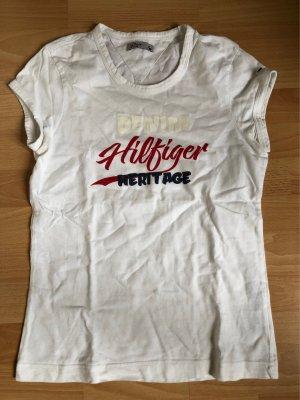 Tommy Hilfiger Shirt mit Druck Gr. 38 weiß