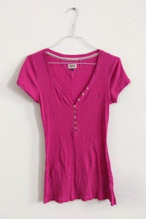 Tommy Hilfiger Shirt pink mit Knöpfen Gr L / 40
