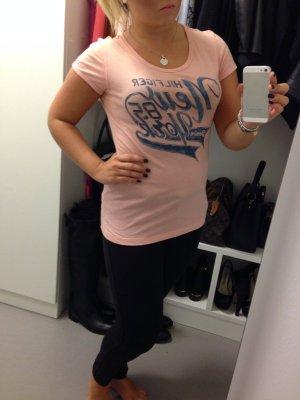 Tommy Hilfiger Shirt T-Shirt Lachs rose blau Gr L