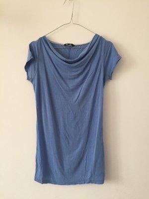 Tommy Hilfiger Camisa con cuello caído azul celeste lyocell