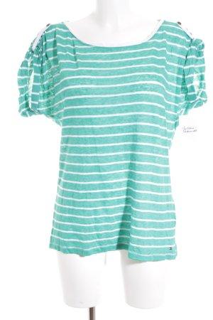 Tommy Hilfiger Shirt weiß-grün Streifenmuster Casual-Look