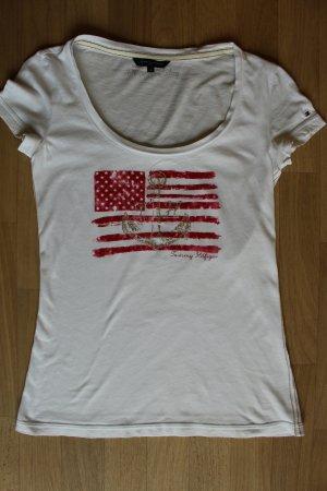 Tommy Hilfiger Shirt weiß mit Print