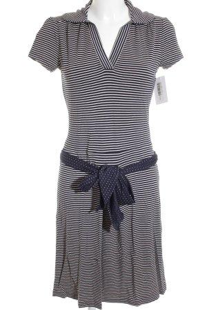Tommy Hilfiger Shirtkleid weiß-dunkelblau Punktemuster Casual-Look