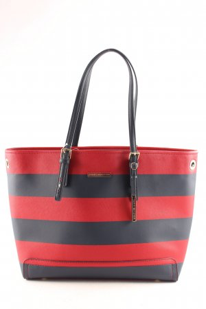 Tommy Hilfiger Shopper dark blue-brick red striped pattern casual look