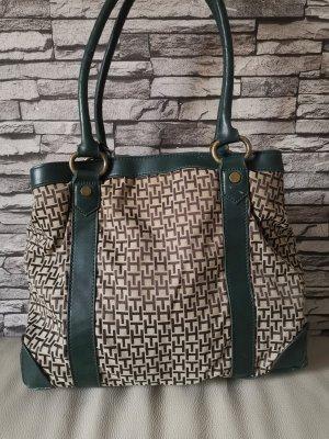 Tommy Hilfiger Shopper Tasche Handtasche braun grün beige