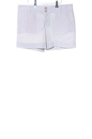 Tommy Hilfiger Shorts weiß-hellgrau Streifenmuster Casual-Look