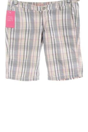 Tommy Hilfiger Shorts creme-hellgrau Karomuster Casual-Look