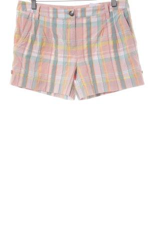 Tommy Hilfiger Shorts rosa pallido-celeste motivo a quadri stile casual