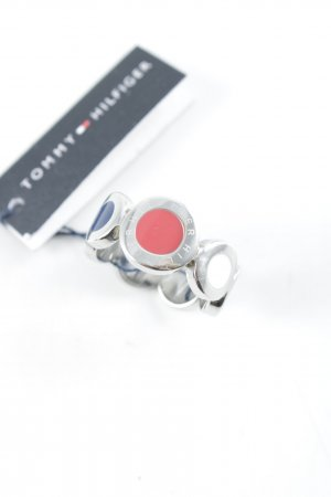 Tommy Hilfiger Silver Ring silver-colored spots-of-color pattern casual look