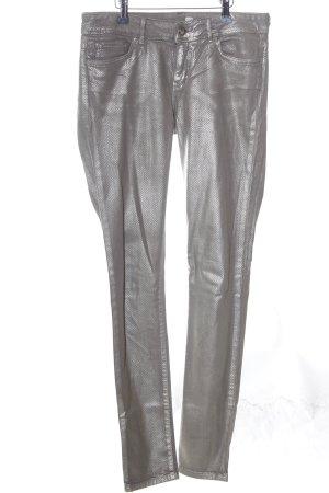 Tommy Hilfiger Skinny Jeans hellgrau-bronzefarben grafisches Muster