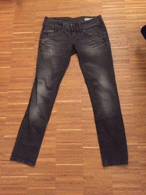 Tommy Hilfiger Denim Skinny jeans donkergrijs