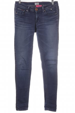 Tommy Hilfiger Skinny Jeans dunkelblau Punktemuster Casual-Look